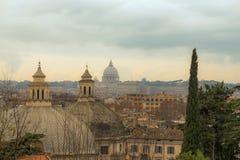 Dachspitzen von Rom stockfotografie
