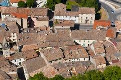 Dachspitzen von San Marino stockfotografie