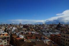Dachspitzen von Valencia, Spanien Stockbild