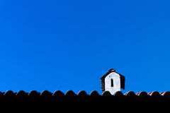Dachspitzenkamin Stockbild