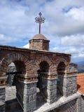 Dachspitzenkloster Griechenland Stockbild