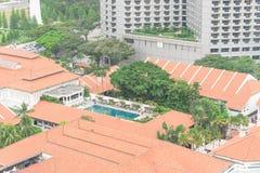 Dachspitzenpool des Kolonialerbhotels in Singapur lizenzfreie stockbilder