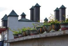 Dachspitzentöpfe Lizenzfreies Stockfoto