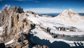 Dachstein冰川滑雪胜地,奥地利 免版税库存图片