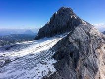 Dachstein冰川, Steiermark/奥地利- 2016年9月13日:一竞争 免版税库存图片