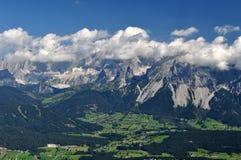 Dachstein山,奥地利 免版税库存照片