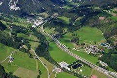 Dachstein山,奥地利 库存图片