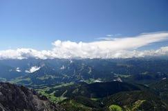 Dachstein山,奥地利 图库摄影