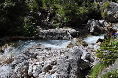 Dachstein山, Silberkarklamm,奥地利 免版税库存照片