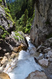 Dachstein山, Silberkarklamm,奥地利 图库摄影