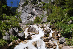 Dachstein山, Silberkarklamm,奥地利 免版税库存图片