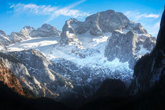 Dachstein Berg in den österreichischen Alpen Lizenzfreie Stockbilder