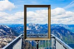 Dachstein berg i Österrike Arkivbilder