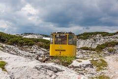 Dachstein-Drahtseilbahn-Gondel Stockfoto