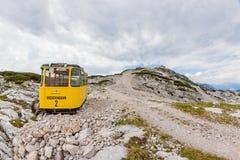 Dachstein-Drahtseilbahn-Gondel Stockfotografie