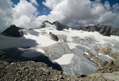 Dachstein glaciär Arkivfoton