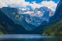 Dachstein with Gosausee lake, Alps, Austria Stock Photos