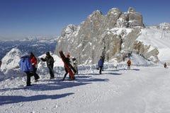 Dachstein, het Ski?en Gebied Stock Afbeelding