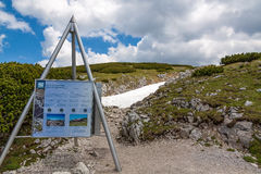 Dachstein information sign Royalty Free Stock Photos
