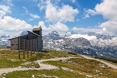 Dachstein-Krippensteinkapelle Stockbild