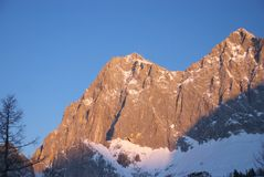 Dachstein mountain 5. Clear sky and high mountain Royalty Free Stock Photos