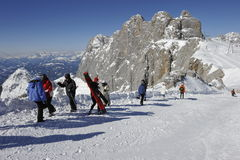 Dachstein, Skiing Area Stock Image