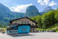 Dachstein-Talstation Stockbild
