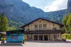 Dachstein-Talstation Lizenzfreies Stockbild