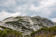 Dachstein toppmötestation Arkivfoto