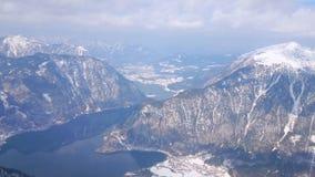 Dachsteinmassif från den Krippenstein monteringen, Obertraun, Österrike arkivfilmer