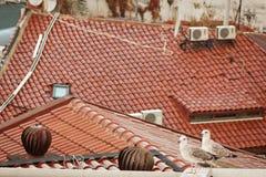 Dachteil Altbau in Istanbul Lizenzfreie Stockfotografie