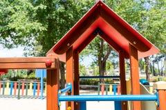 Dachteil des Kinderspielplatzes Stockbild