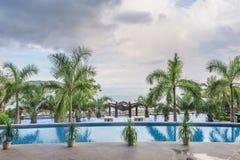Dachu hotelowy basen Obrazy Royalty Free