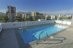 Dachu pływacki basen Fotografia Royalty Free