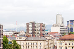 Dachu widok budynków biurowych mieszkań mieszkań własnościowych biznes Lju Zdjęcia Royalty Free