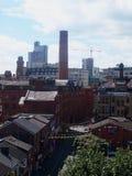Dachu widok centrum miasta Machester, Anglia Fotografia Stock