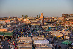Dachu widok Marrkech, Maroko Zdjęcia Stock