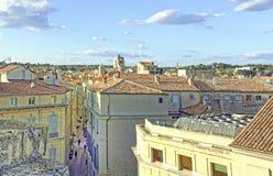 Dachu widok Nimes, Francja Obraz Royalty Free