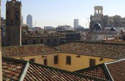 Dachu widok od Barcelona katedry. Hiszpania Fotografia Stock