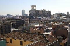 Dachu widok od Barcelona katedry. Hiszpania Zdjęcia Stock
