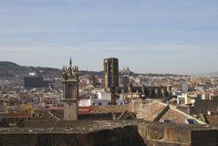 Dachu widok od Barcelona katedry. Hiszpania Obraz Stock