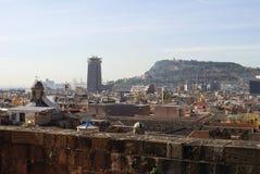 Dachu widok od Barcelona katedry. Hiszpania Obraz Royalty Free