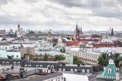 Dachu widok z lotu ptaka Moskwa śródmieście Fotografia Stock