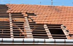 Dachwiederherstellung stockfoto