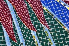 Dachówkowy i lustrzany mozaiki tekstury tło Fotografia Stock