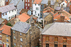 Dachy domy W Staithes, North Yorkshire, Anglia Fotografia Royalty Free
