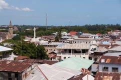dachy drylują grodzkiego Zanzibar Obraz Stock