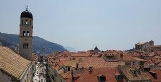 Dachy Dubrobnik, Chorwacja obrazy royalty free