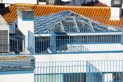 Dachy i metali poręcze Zdjęcia Royalty Free