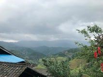 Dachy i tarasy w Guilin, Chiny obrazy stock